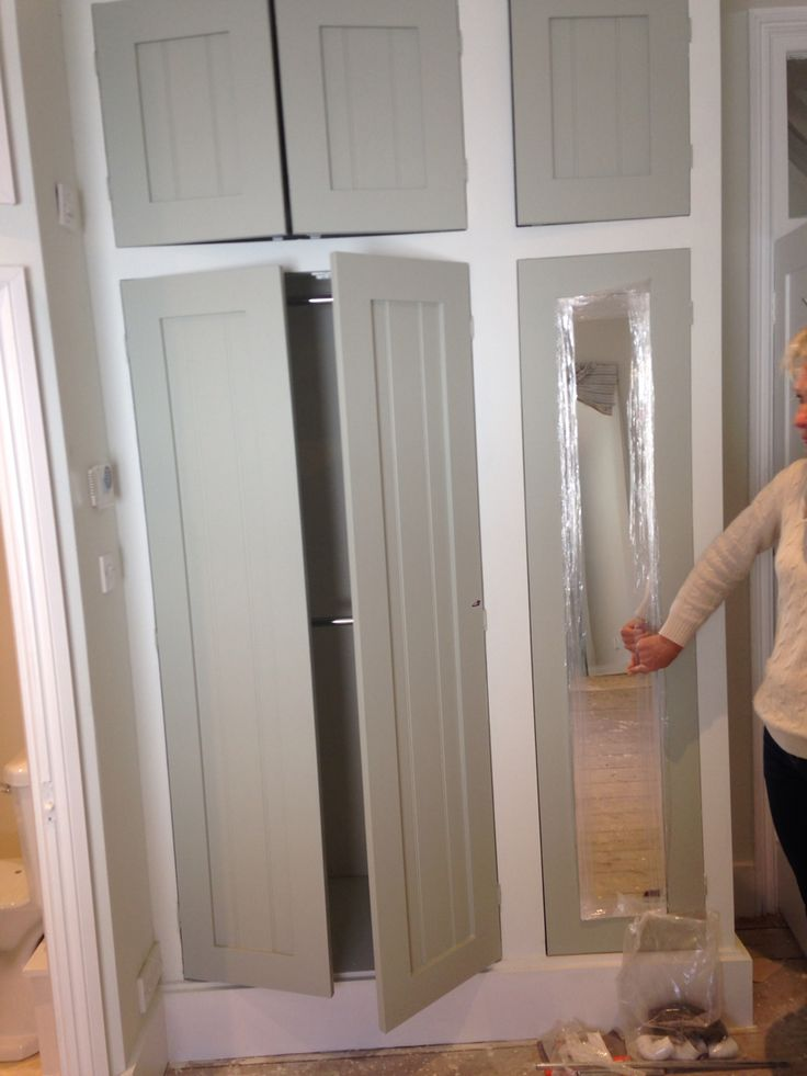 The Built In Wardrobes Have Been Painted Farrow And Ball