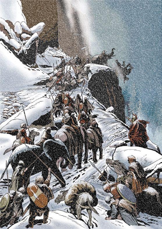 """""""Hannibal crossing the Alps"""", Angelo Todaro"""