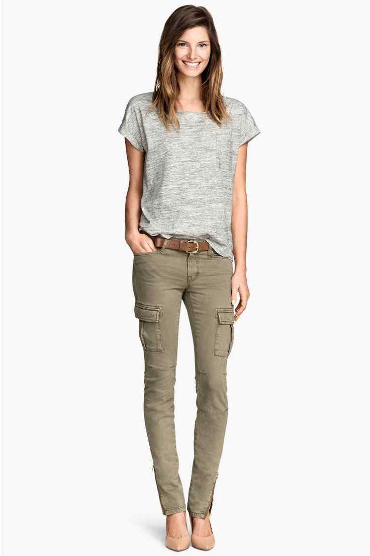 Pantaloni cargo misto lyocell | H&M