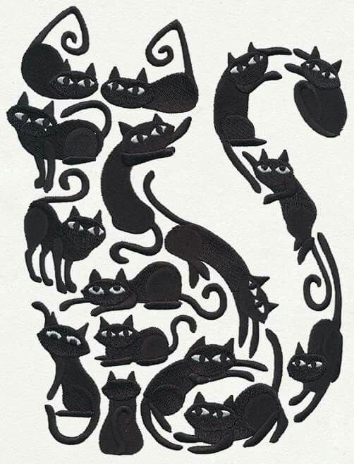 A cat made of cats