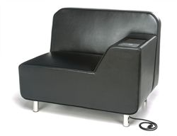The 5000LE Serenity Series left arm lounge chair by OFM features an  integrated electrical outlet with29 best Tablet Arm Chairs images on Pinterest   Arm chairs  Lounge  . High Tech Arm Chairs. Home Design Ideas