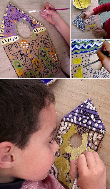 cardboard sharpies paint