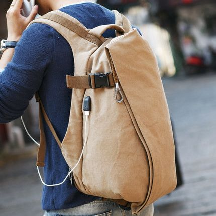 Canvas USB Backpack 1