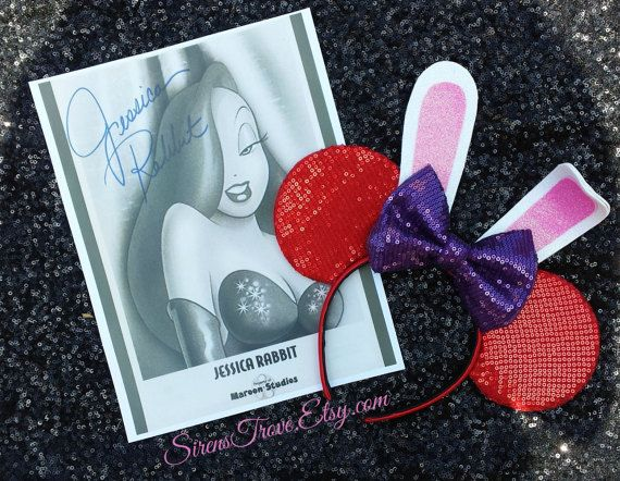 Jessica Rabbit Inspired Mouse Ears Who Framed Roger by SirensTrove