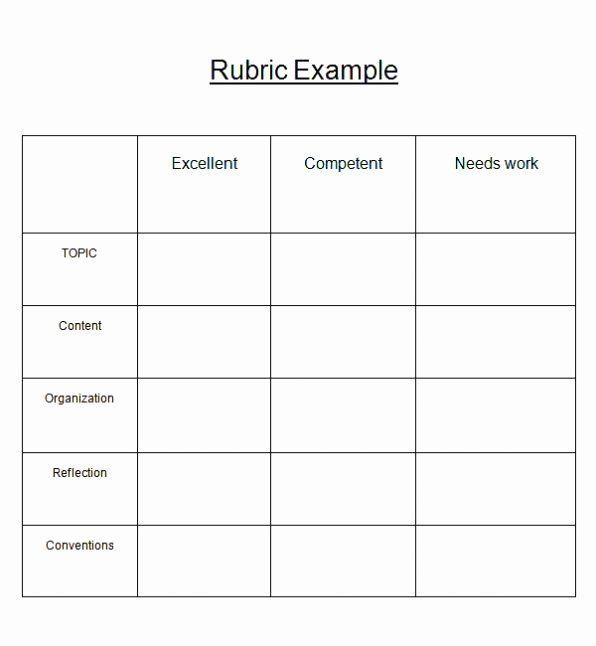 Rubric Template Microsoft Word 2020 Rubric Template Best