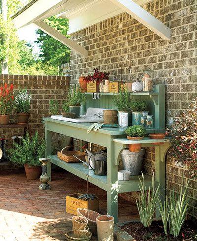 Tres inspiradoras ideas para colocar un fregadero en el jardín