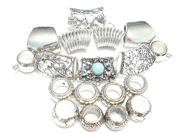 18pcs  Metal Alloy Silver Scarf Jewelry Scarf  by coreringscarf, $18.99