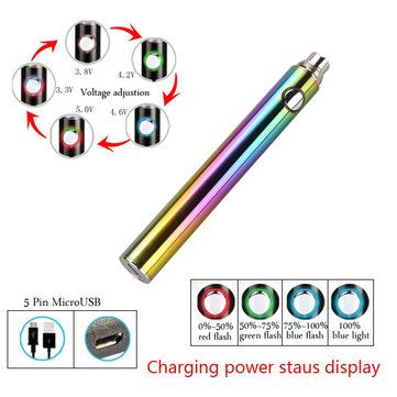 Micro USB EVOD2 Battery For Electronic Cigarette 900mAh