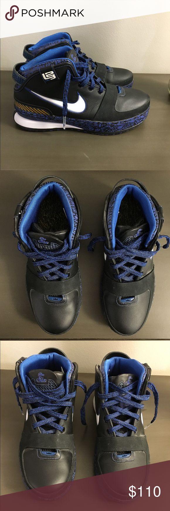 Nike Lebron Zoom 6 shoes Black and blue Nike Lebron Zoom 6 Men's shoe. Nike Shoes Sneakers