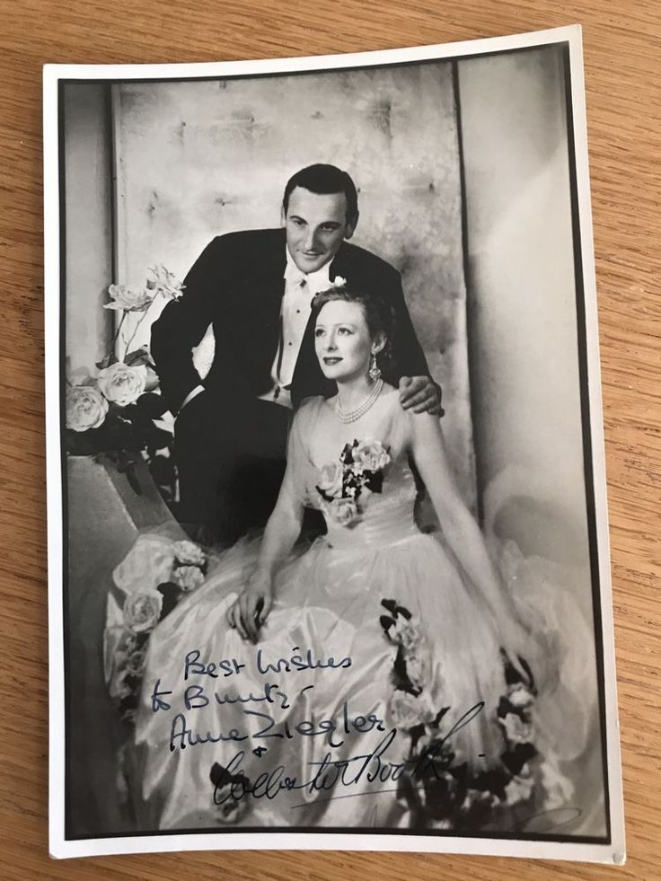 Anne Ziegler And Webster Booth Signed Autographed Photo M10029
