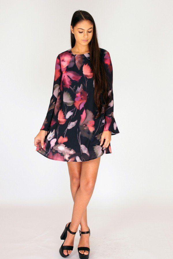DREAMY BLOOMS SHIFT DRESS