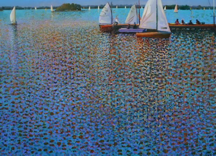 Paisajes Marinos Impresionistas, Pintor Ton Dubbeldam, Año 1957