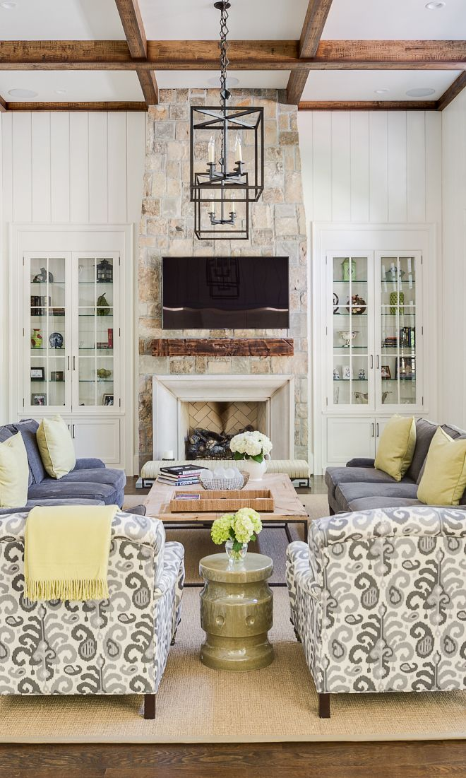 Living Room Fireplace  Home Living Room  The Fireplace  Ranch Home Designs   Cape Cod Style  Colorful Decor  Couch Pillows  Ranch Homes  Stone Fireplaces. Top 25  best Living room with fireplace ideas on Pinterest