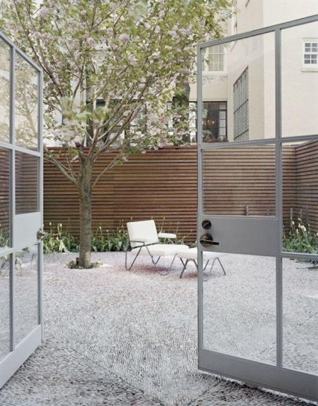 Steven Harris Brooklyn Courtyard Grey Steel Frame Door