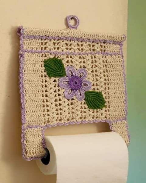 Croche e Pontos: Porta papel toalha
