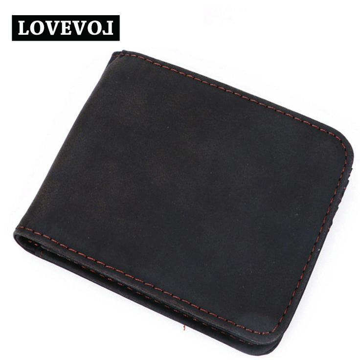 Cow Genuine Leather Men Wallets Simple Dark Brown Multi - card Men Wallet Quality Brand Luxurious  Men Wallet 011A1