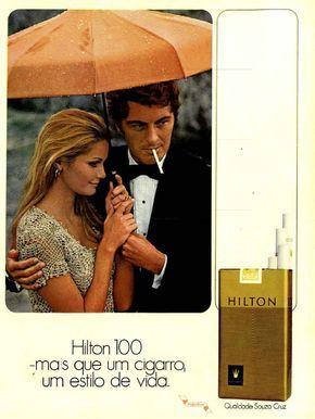 Cigarros Hilton #Brasil #anos70 #retro #anunciosAntigos #vintageAds