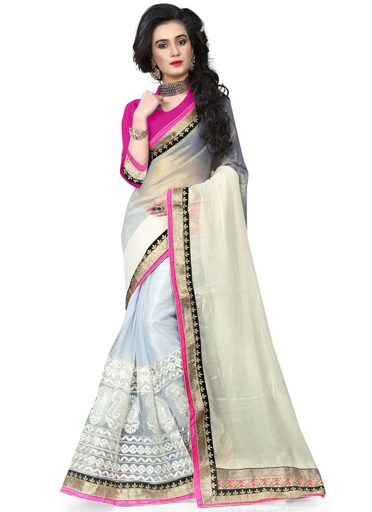 Buy Charming Georgette Patch Border Work Traditional Saree  #sarees #saree #sari #designersaree #sareebuzzlove #sareebuzz #weddingsarees #weddingfashion