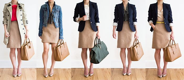 30 Outfits in a Bag: A-Line Skirt