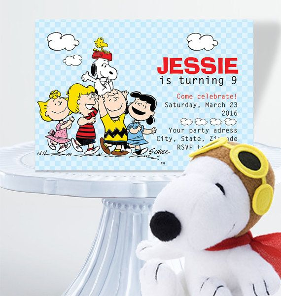 The 25 best Snoopy birthday decorations ideas – Snoopy Party Invitations