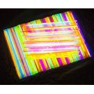 """Glow Sticks Party Favors for Adults & Kids (200 Pieces); 8"""" Glow in the Dark Neon Party Supplies in Pink, Blue, Orange Yellow & Green – Use Connectors for Longer Glow Stick Glow Necklaces & Bracelets"""