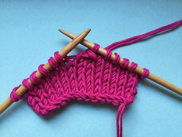 comment tricoter un surjet simple