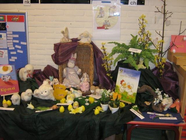 Easter/spring table Thema tafel over lente en Pasen  ( Anne K)