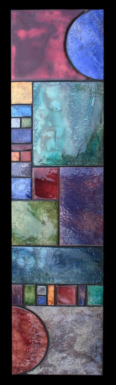 Art Deco Sun Metal Quilt Panel