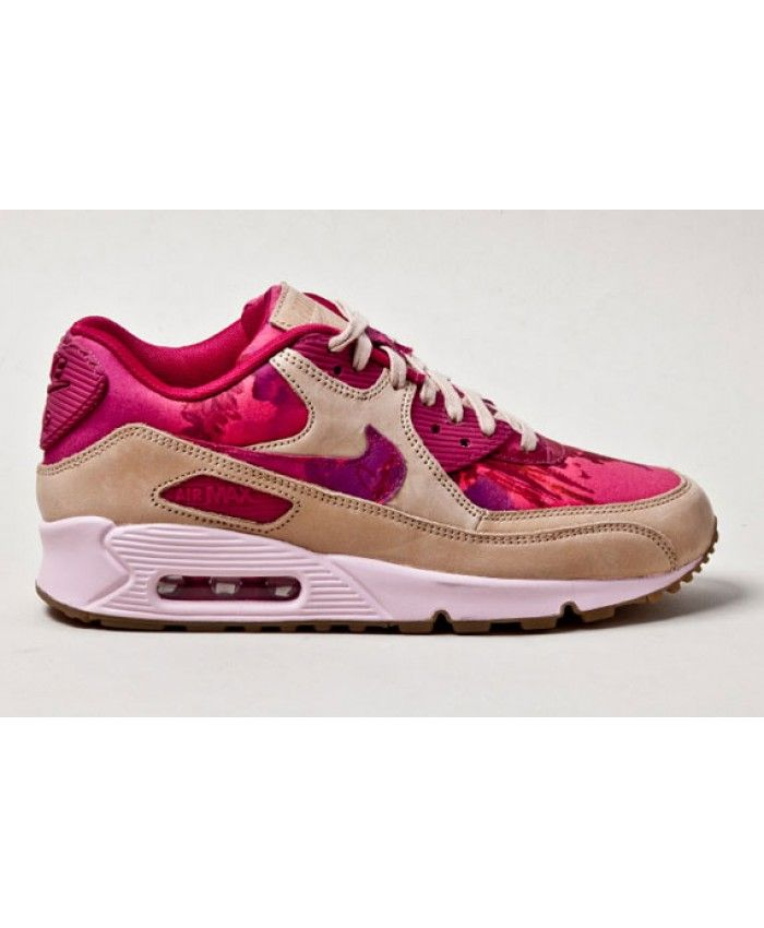 Nike Air Max 90 Liberty Red Floral Womens Trainers Cheap UK