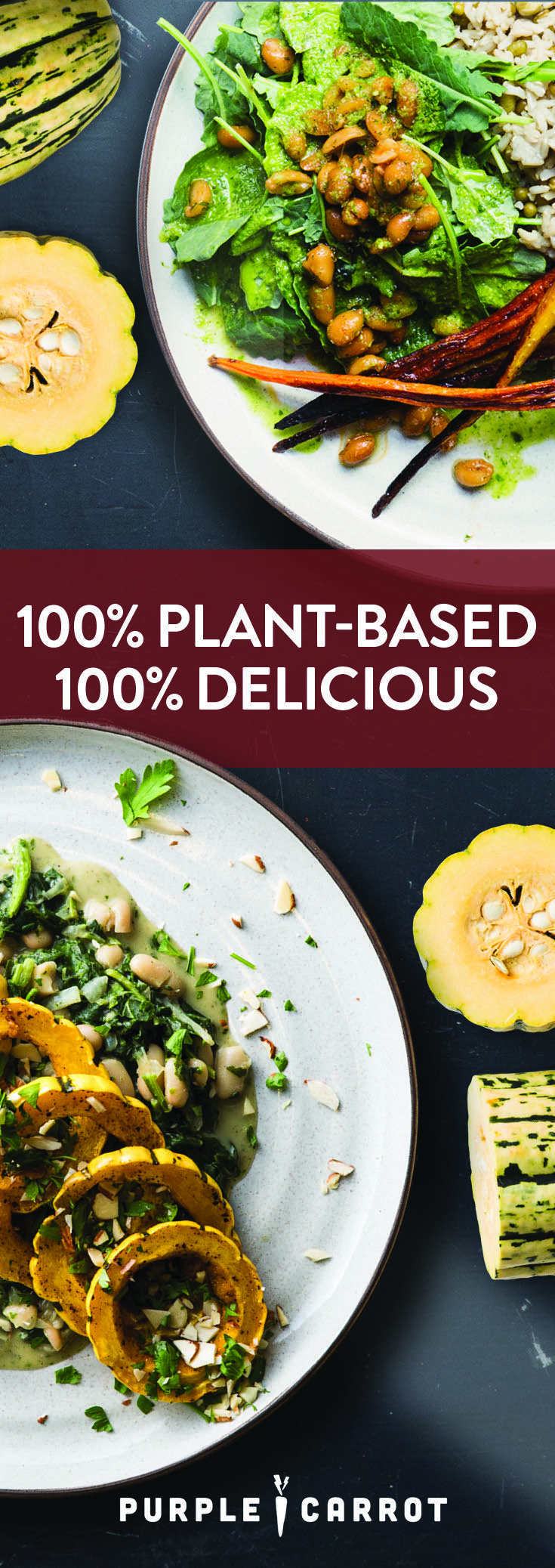 Cook nutritious, 100% plant-based meals. Fresh ingredients delivered each week.