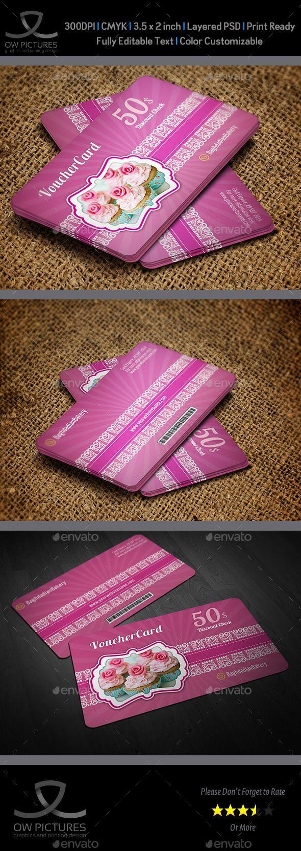 Cake Shop Voucher Gift Card Template Vol.2