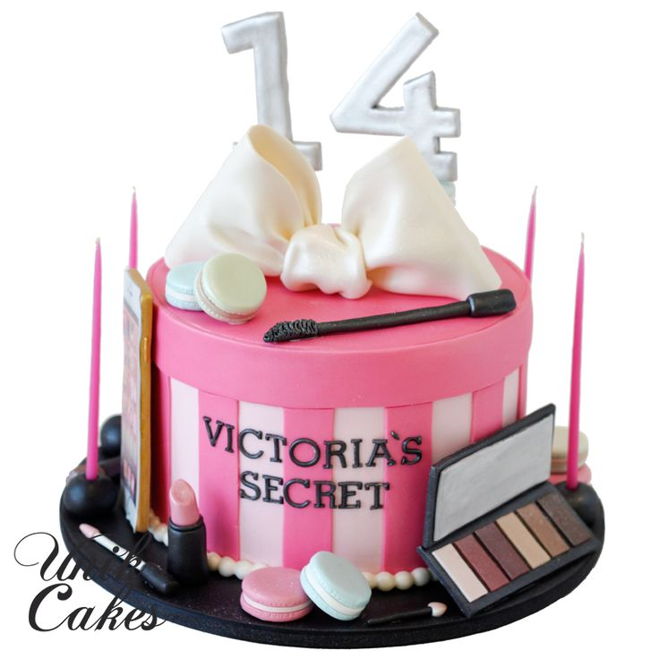 Victoria-secret-gift-box-birthday-cake