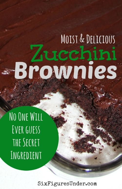 Zucchini lovers and haters alike will love these moist, chocolatey zucchini brownies. The frosting is excellent, but they're delicious without it too! As a bonus, the recipe doesn't have any eggs!