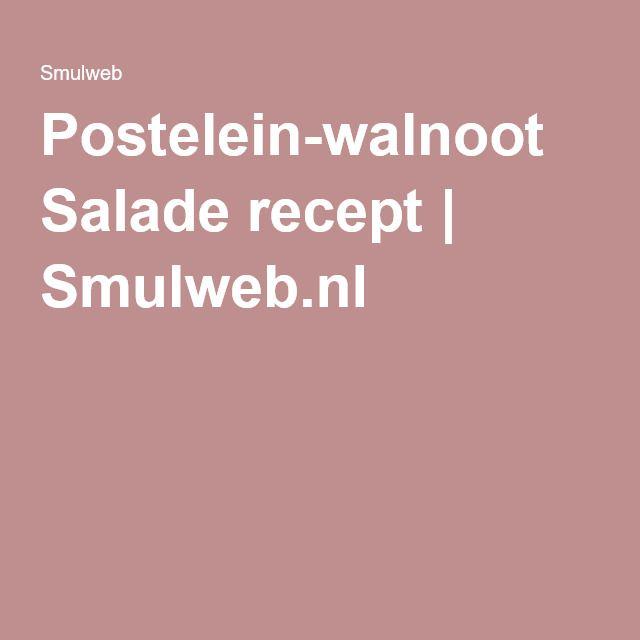 Postelein-walnoot Salade recept | Smulweb.nl