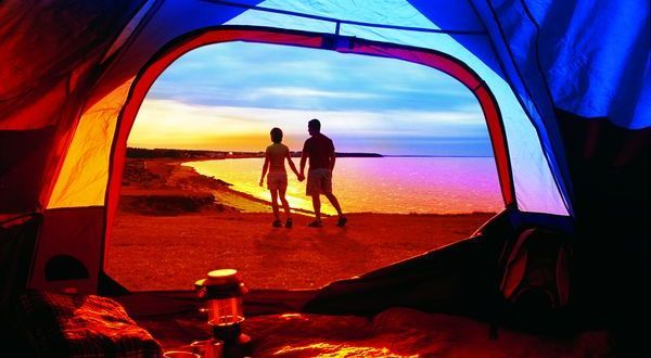 Camping, provincial park, Little Shemogue, New Brunswick Canada