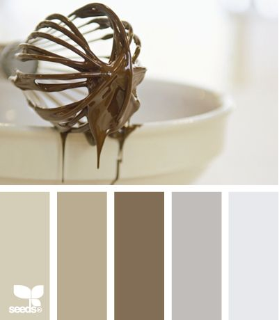 Besides loving the dripping chocolate this is a great neutral palette to carry throughout a home.