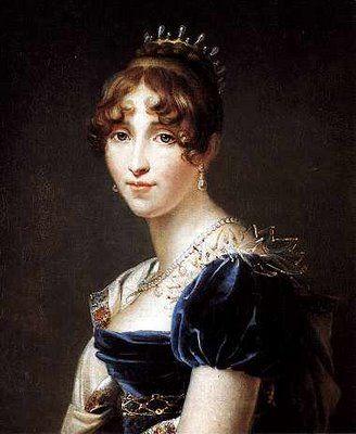 Hortense de Beauharnais, Queen consort of King Louis Bonaparte of Holland, daughter of Empress Josephine Bonaparte with her first husband