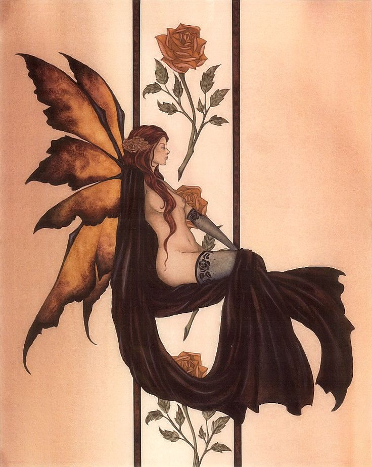 Fairy Art Amy Brown Amber Rose I