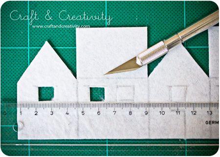 Dagens pyssel, filthus – Craft of the Day, felt houses | Craft & Creativity – Pyssel & DIY