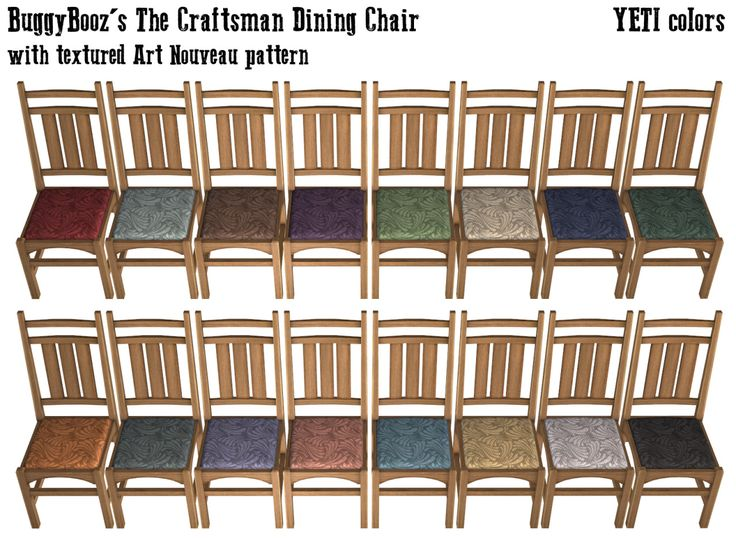 Because the Craftsman Settle recolors I made for Digne at GoS felt alone in my game, I decided to make the Armchair and the Dining Chair with matching texture/pattern/colors to complete the set. Enjoy ! Download Armchair : SIMFILESHARE Download...