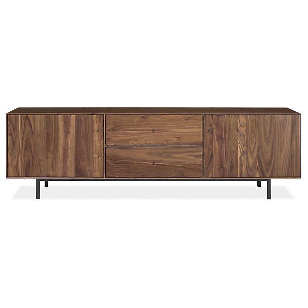 Hudson Media Cabinets with Steel Base - Modern Media Storage - Modern Living Room Furniture - Room & Board