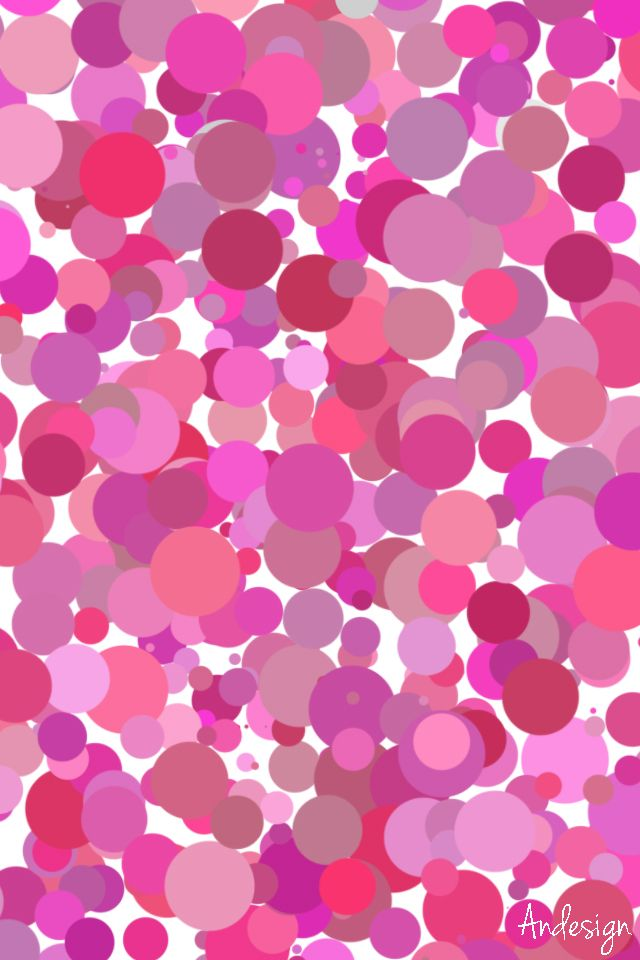 #dots #pattern #pink #wallpaper #iphone #andesign