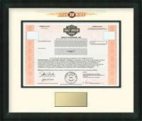 Harley Davidson Stock Certificate