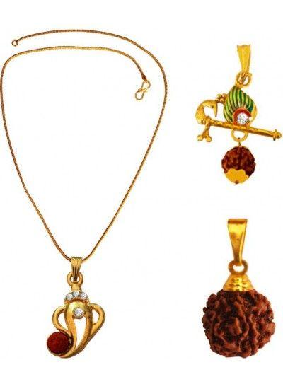 LORD SHIVA ,ORIGNAL RUDRAKSHA USE THREE DIFFERENT COMBO SET FOR MEN Combo Pendant Set, pendant set, combos, Latest pendants for men , trendy pendants for mens,mens jewellery, online jewellery for mens,menjewell.com