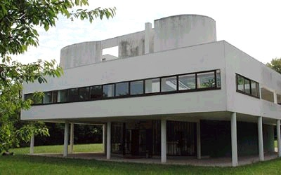 Pilotis or piers are supports such as columns pillars or stilts that lift - Villa savoye poissy francia ...