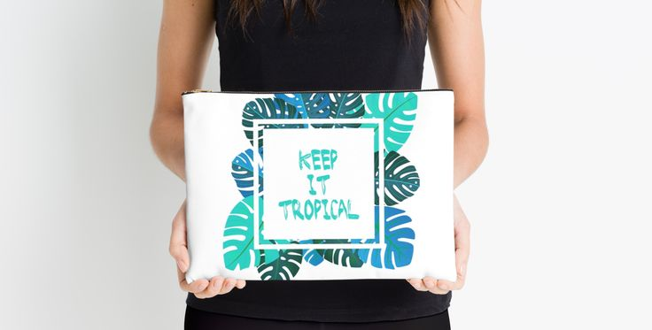 """""""Keep it #tropcal No.2 in BLUE"""" Studio Pouches by Didi Kasa 