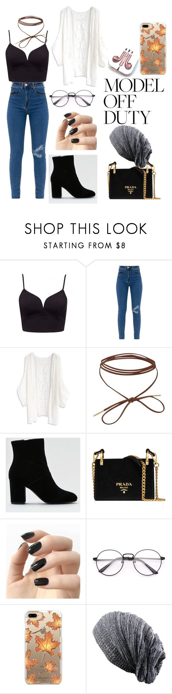 """""""Model off duty"""" by bri007 ❤ liked on Polyvore featuring Chicwish, American Eagle Outfitters, Prada, Incoco, Casetify and PhunkeeTree"""