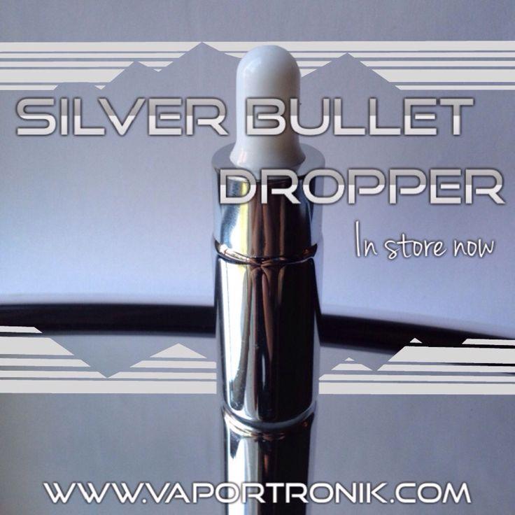 Silver bullet dropper in store now !!!!!  #vape #vaper #vapeon #vapelife #vapehard #diy #eliquid #bottle #dropper  WWW.VAPORTRONIK.COM