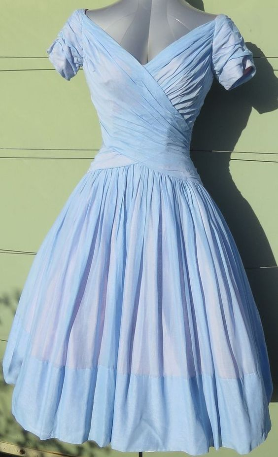 1950's Shirred Bodice Dress
