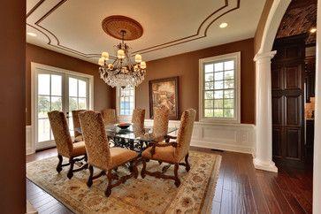Umber with subtle orange undertones. Dining room - mediterranean - dining room - philadelphia - Echelon Custom Homes